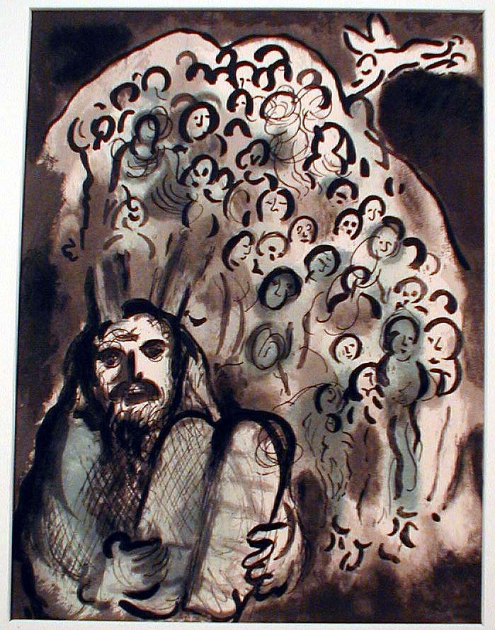 Moses People by Chagall
